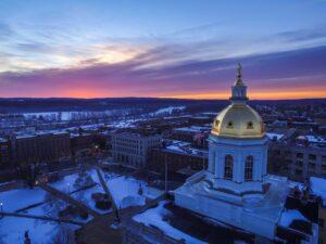 Sunrise over New Hampshire Statehouse